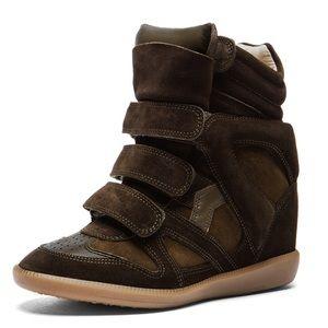 Isabel Marant Bekett Over Basket Wedge Sneaker NEW